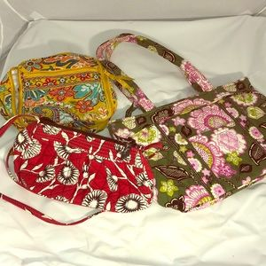 Vera Bradley trio  mini, tote, lunch bag B-2